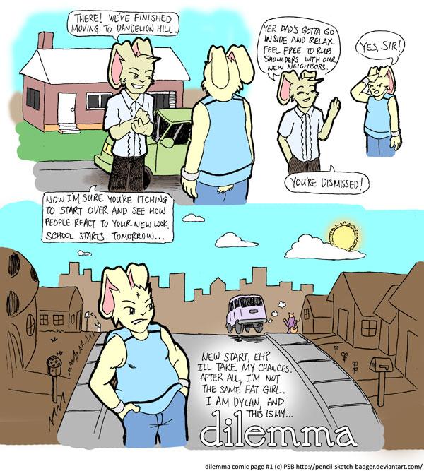 Dilemma comic 001 by malachitecat