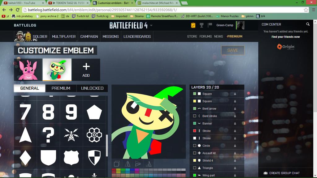 battlefield how to create an emblem