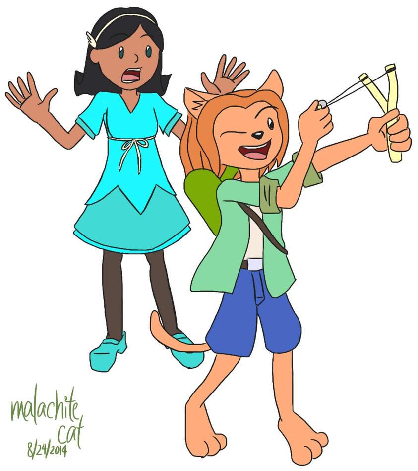 Celeste and Phyllis by malachitecat