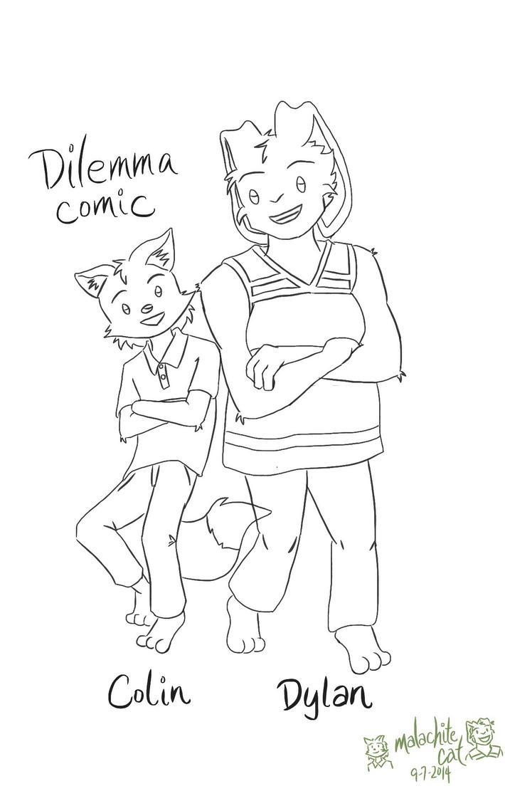 Dilemma Comic - Colin and Dylan by malachitecat