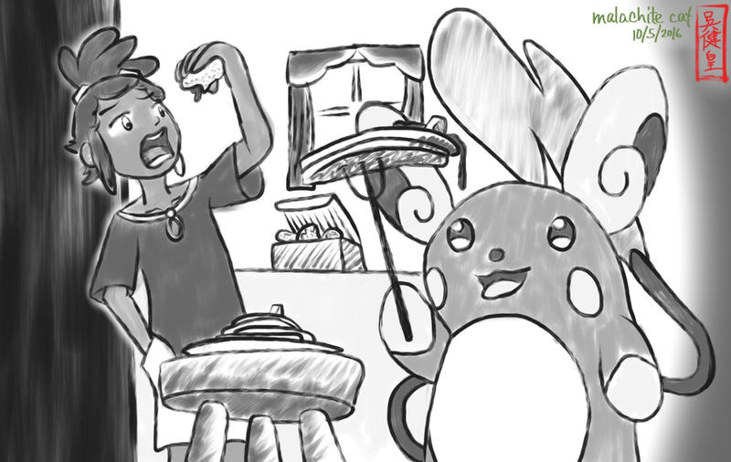 Inktober 2016 5+6 - Hau and Raichu