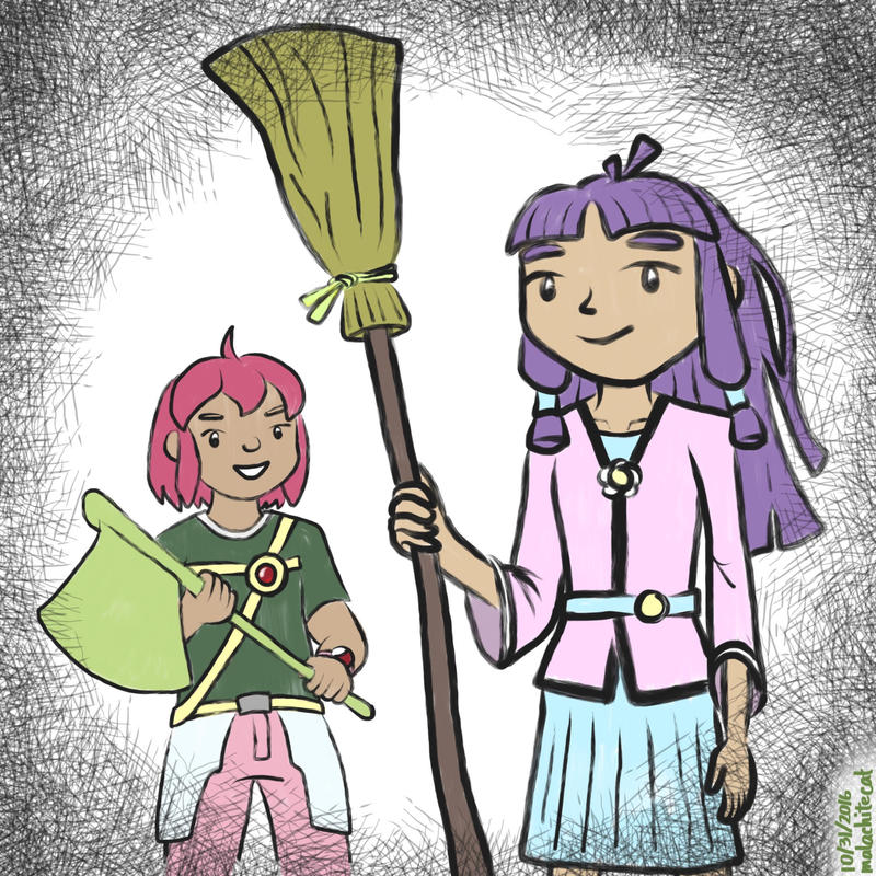 OC - RPG Sisters (Halloween) by malachitecat