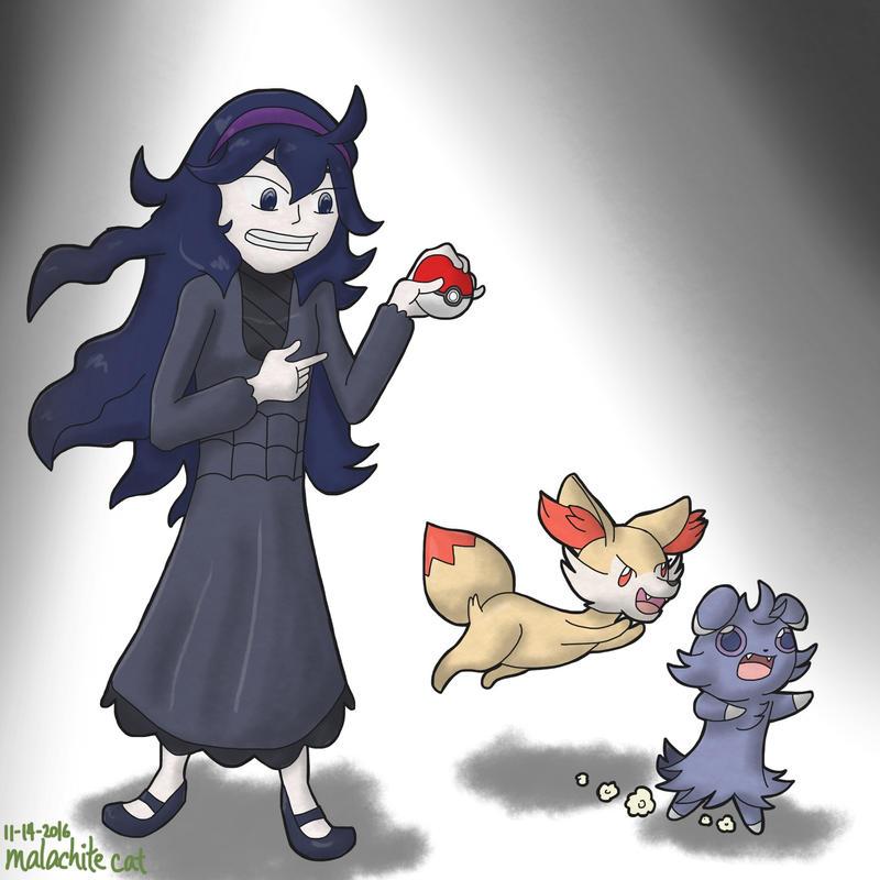 Pokemon - Get that thing in here, Fennekin! by malachitecat