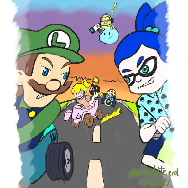Mario Kart - Spark of Competition by malachitecat