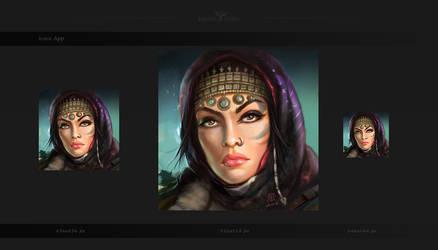 Arabic woman - warrior by agyany