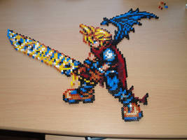 Cloud Strife Hama Sprite by rinoaff10