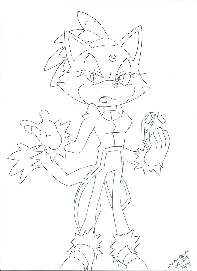 Blaze the cat by rinoaff10 on deviantart for Blaze the cat coloring pages