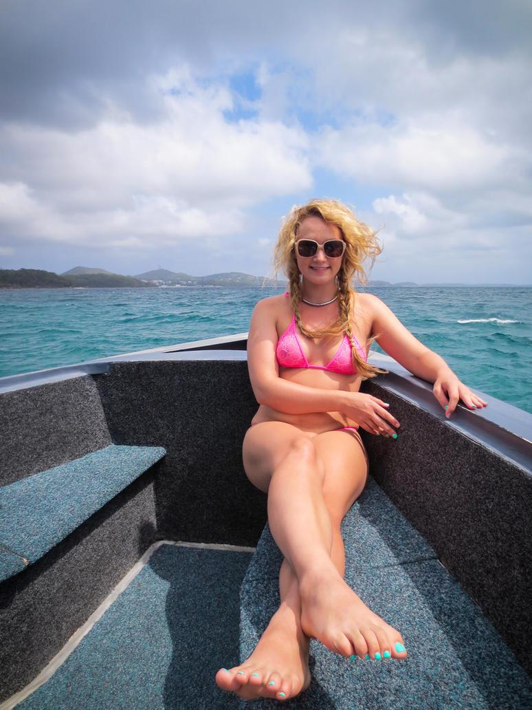 Bikini Boating By Kimcums On Deviantart