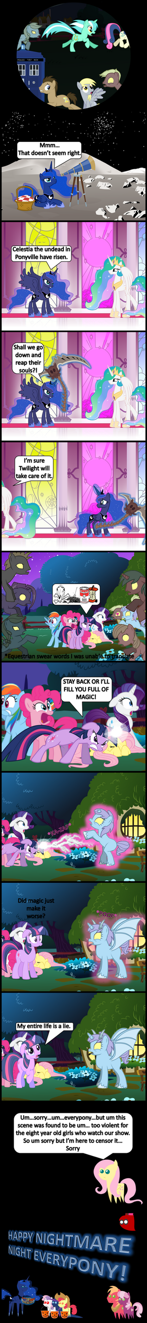 9 and 10 Nightmare Night Special by bronybyexception