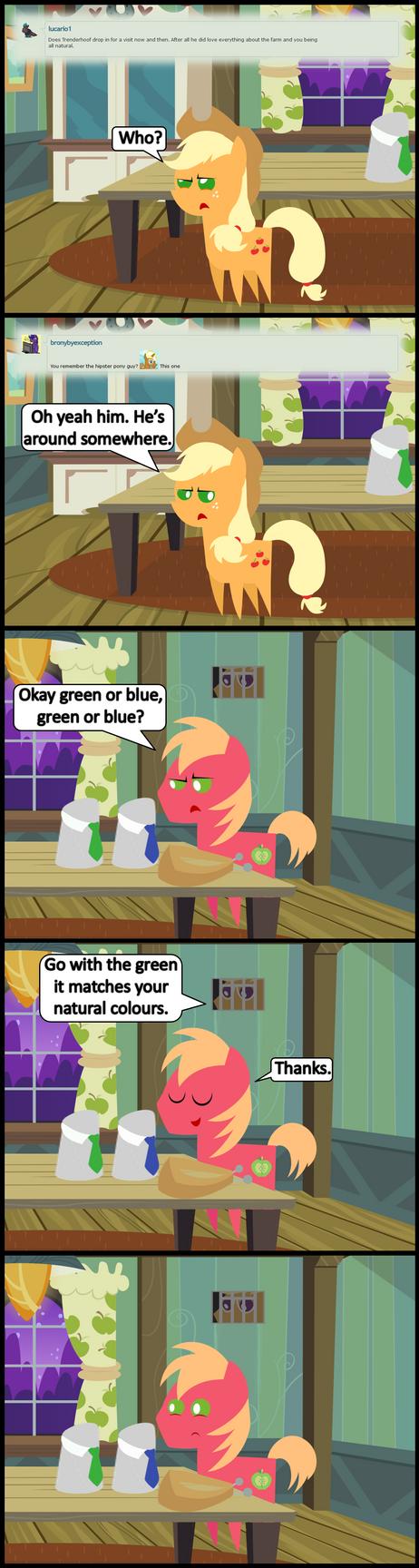 Ask Honest Applejack 32 by bronybyexception