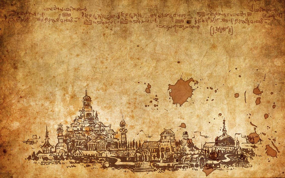 Temple Parchment Desktop By Gladlad