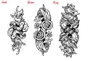 Ratmen Face Cards by gladlad