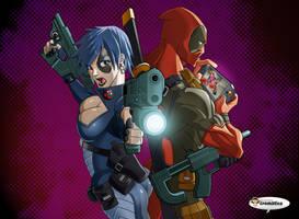 Keep shooting Deadpool by El-Mono-Cromatico