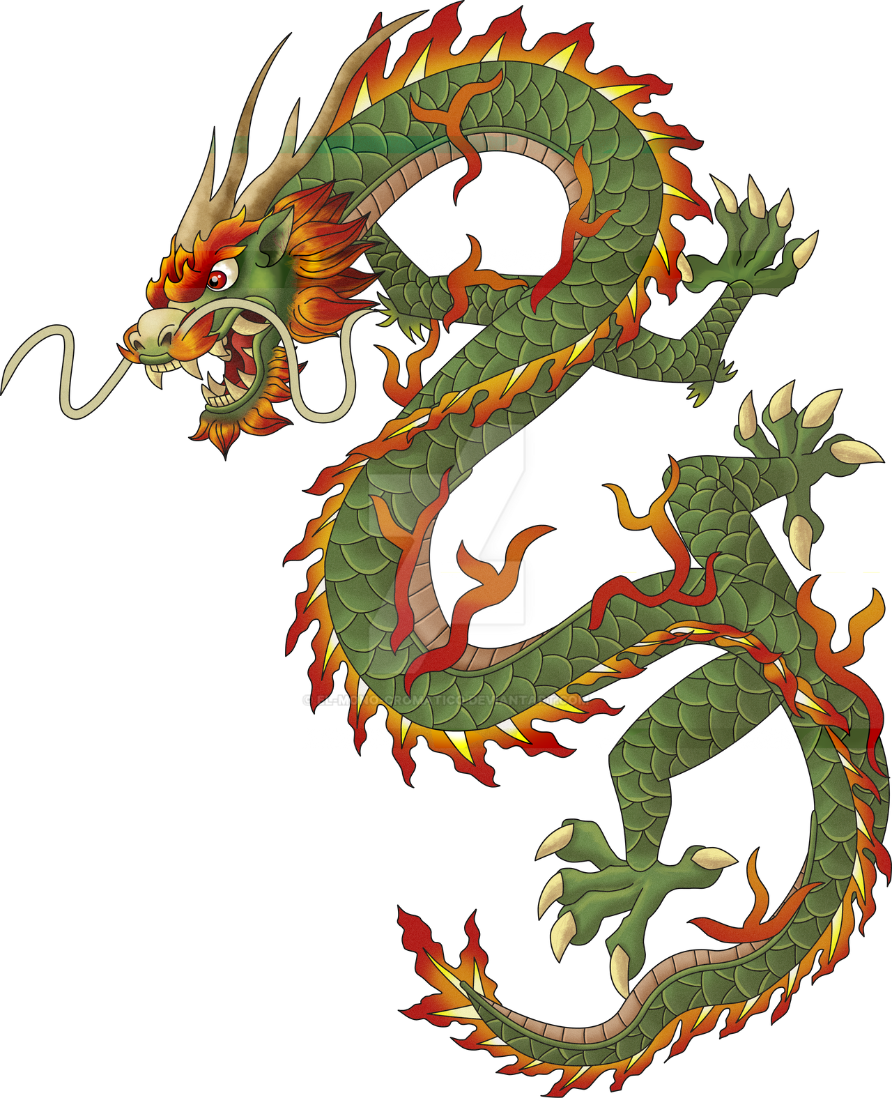 Chinese dragon by El-Mono-Cromatico on DeviantArt