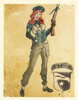 World War II Scarlett by El-Mono-Cromatico
