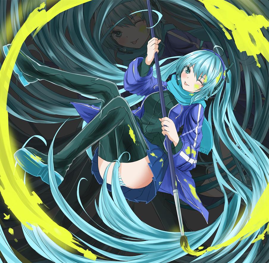 Hatsune Miku by saggitary