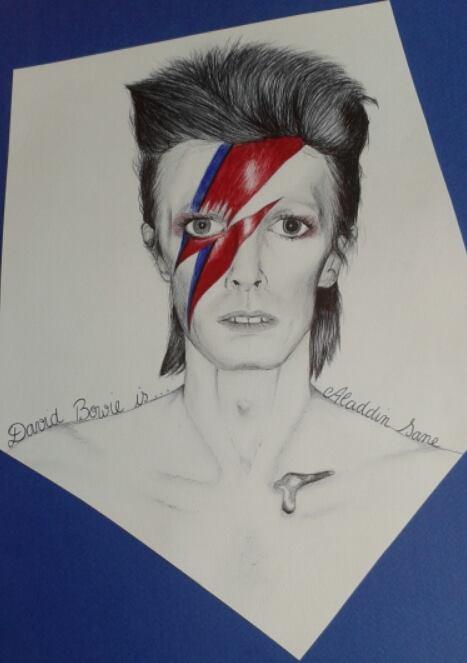 David Bowie is.. Aladdin Sane by Clara97