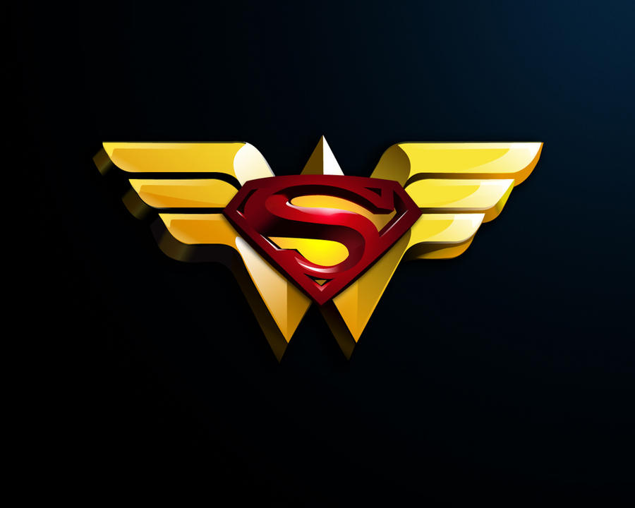 Superman Wonder Woman logo by MrK-8 on DeviantArt