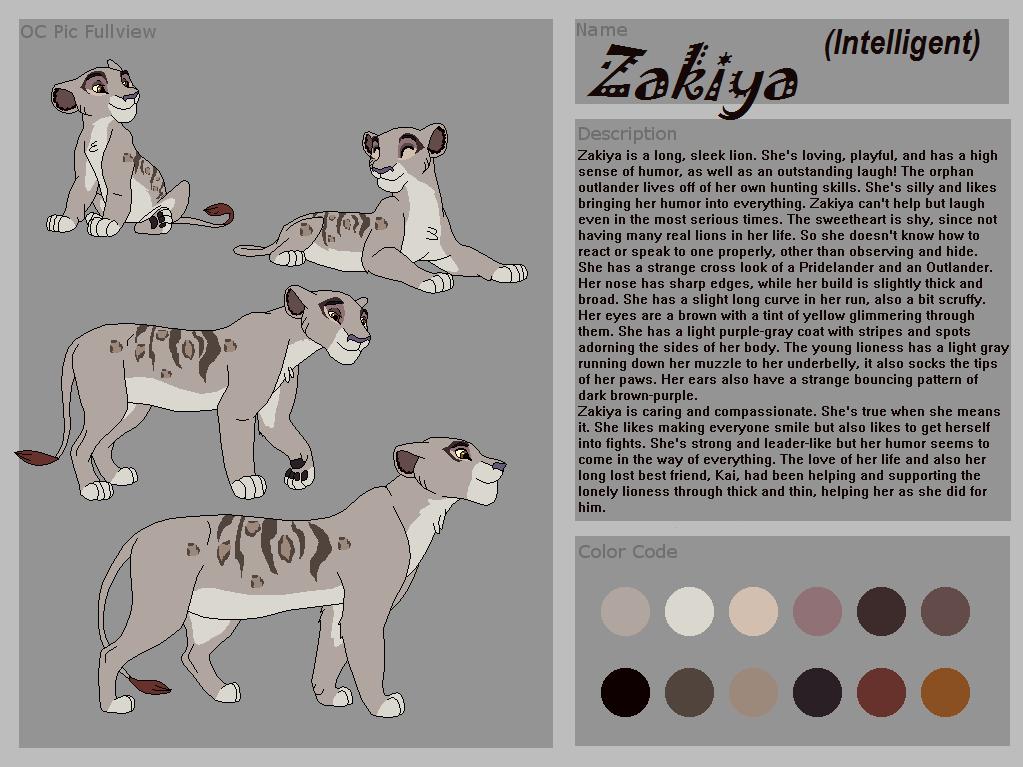 Zakiya Reference by ITheLightInTheDarkI