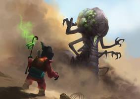Heroes of the Storm - Li Li Vs Abathur by BenHarrisArt