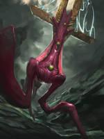 Totem Demon by BenHarrisArt