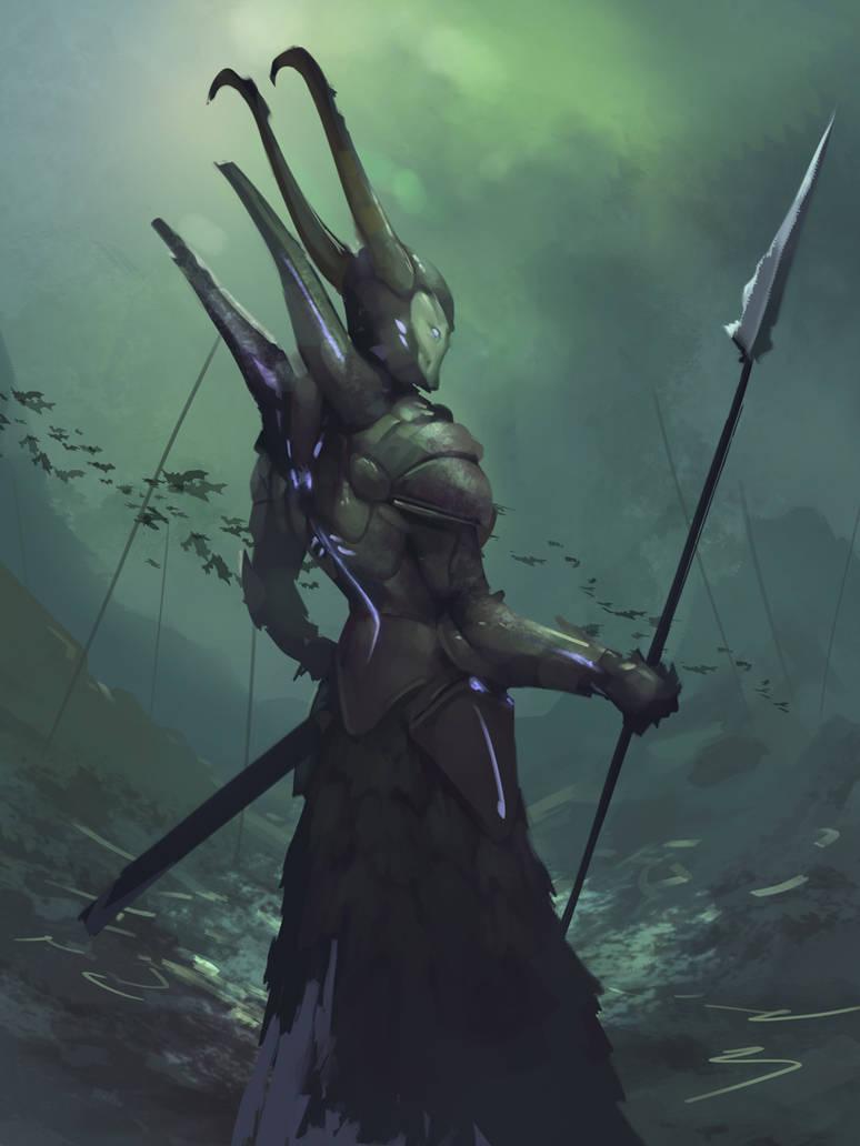 Cyber Knight by BenHarrisArt