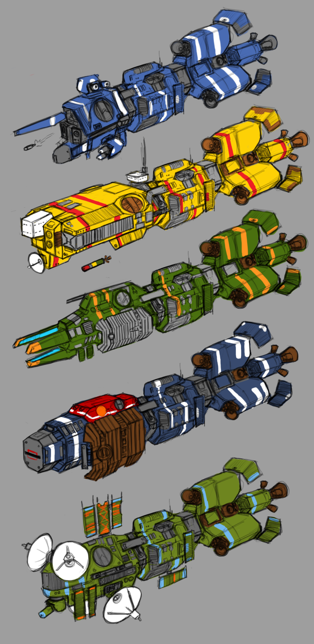 Somtaaw Frigate Lineup by Norsehound