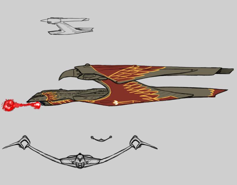 Romulan Warbird by Norsehound