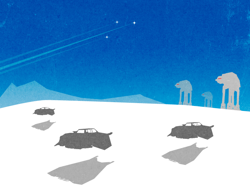 Battle of Hoth by Norsehound