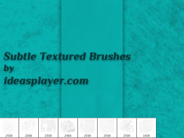 Subtle Textured Ps Brushes by PetyaPlamenova