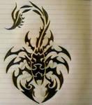 Scorpio Tribal Tattoo design