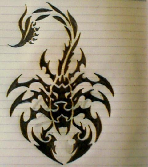 Tribal scorpion tattoos - photo#17