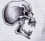 Screaming Skull Tattoo