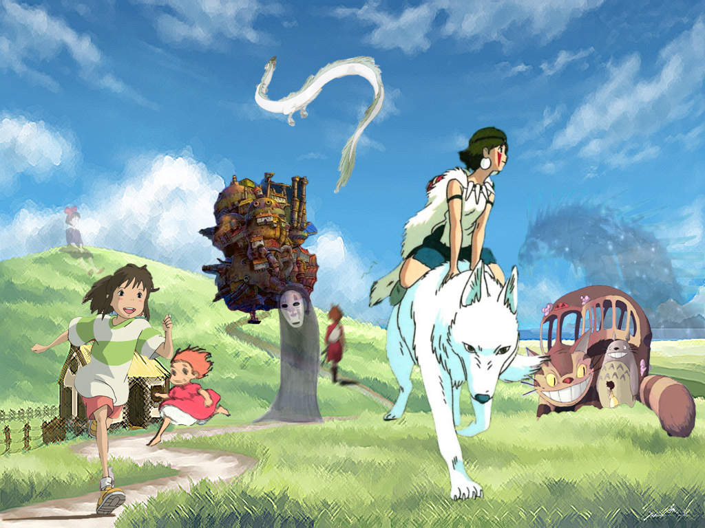 Iphone wallpaper doraemon - Studio Ghibli Collage By Immortalxxxlover25 On Deviantart