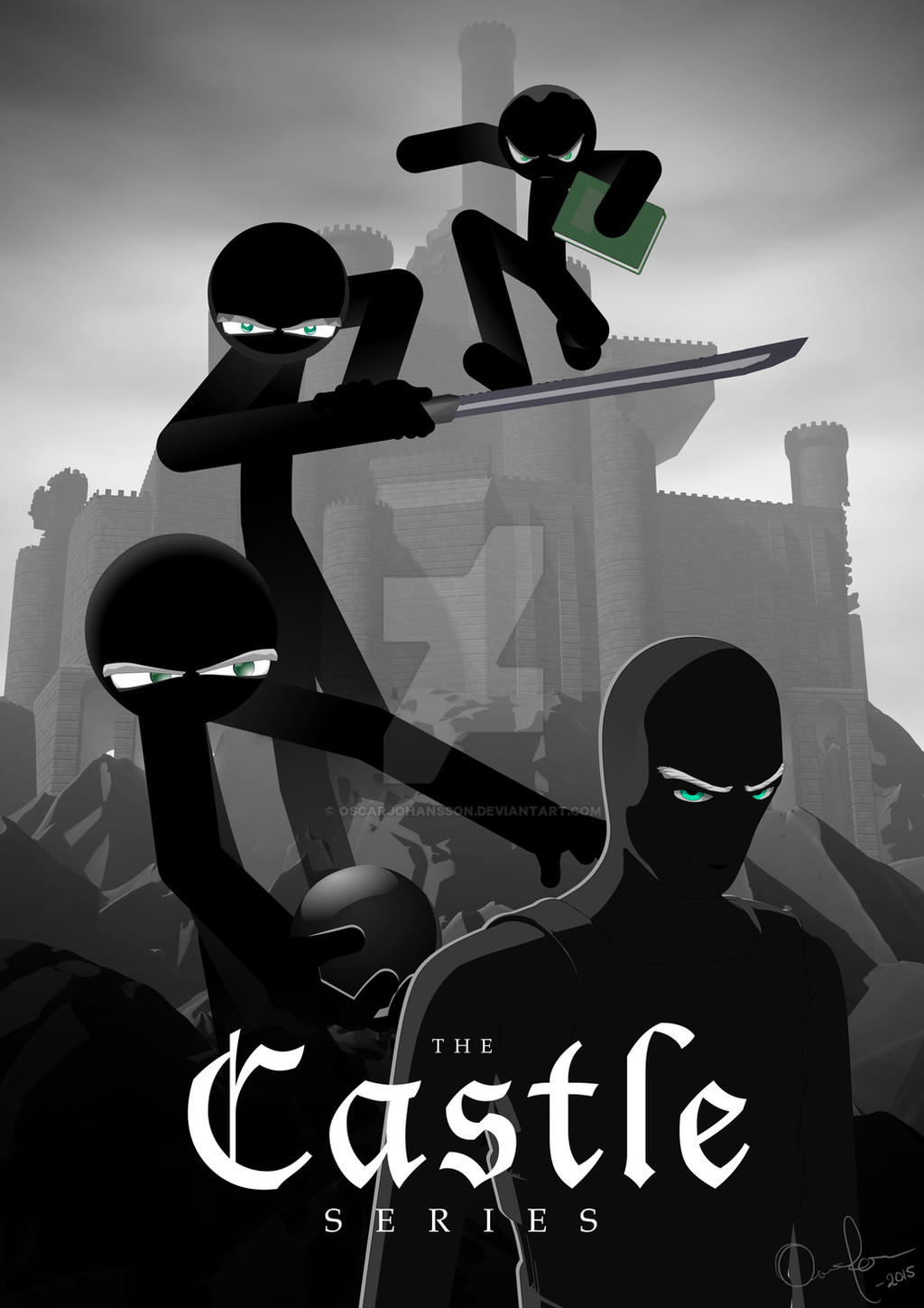 Castle Series Poster by OscarJohansson