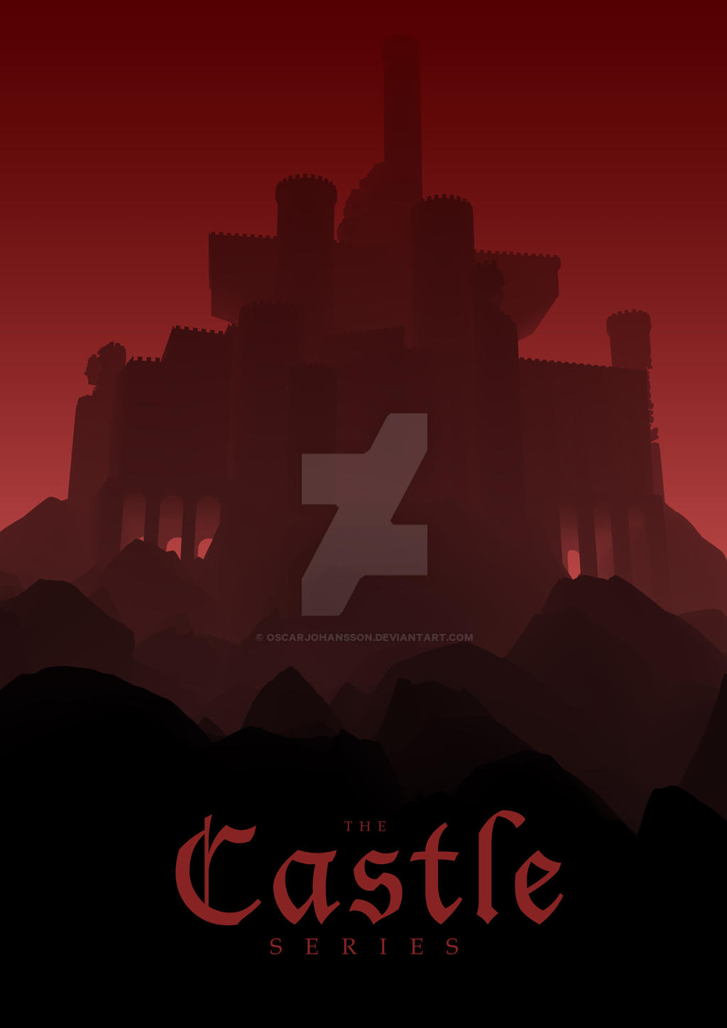 Red Castle Series Poster by OscarJohansson