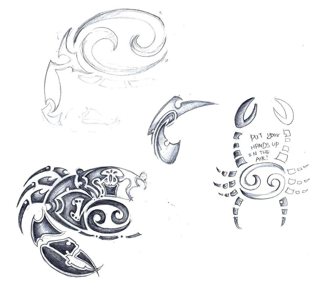 Cancer Zodiac Sign Tribal Tattoo Sketch By Elenoosh On Deviantart