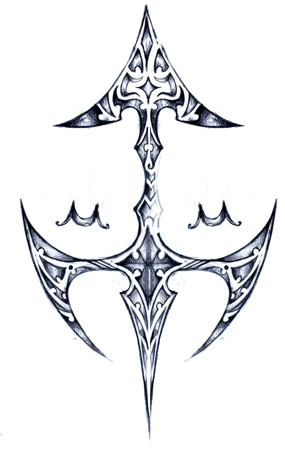 sagittarius zodiac sign tattoo sketch done by elenoosh on deviantart. Black Bedroom Furniture Sets. Home Design Ideas