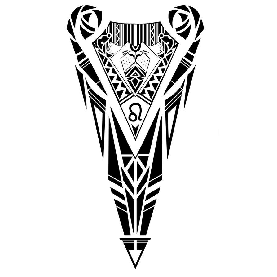leo zodiac sign tribal tattoo design by elenoosh on deviantart. Black Bedroom Furniture Sets. Home Design Ideas