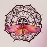 Mandala - Butterfly watercolor
