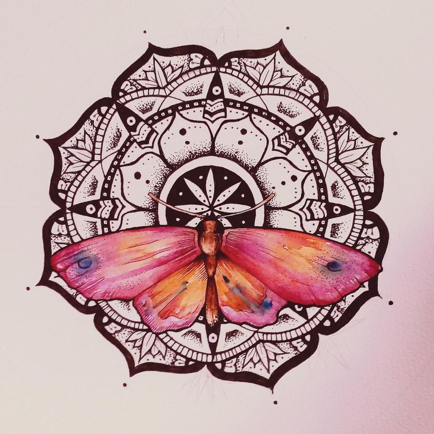 mandala butterfly watercolor by elenoosh on deviantart