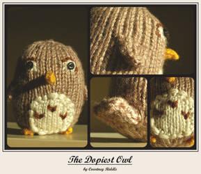 knit animals - owl