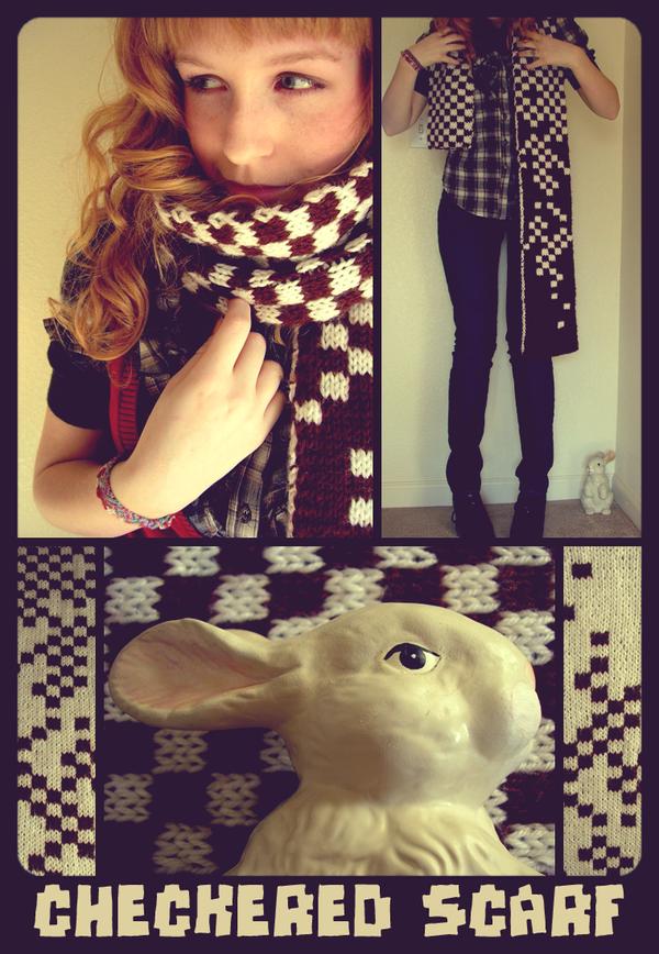 jordan's checkered scarf by GRAMMAR