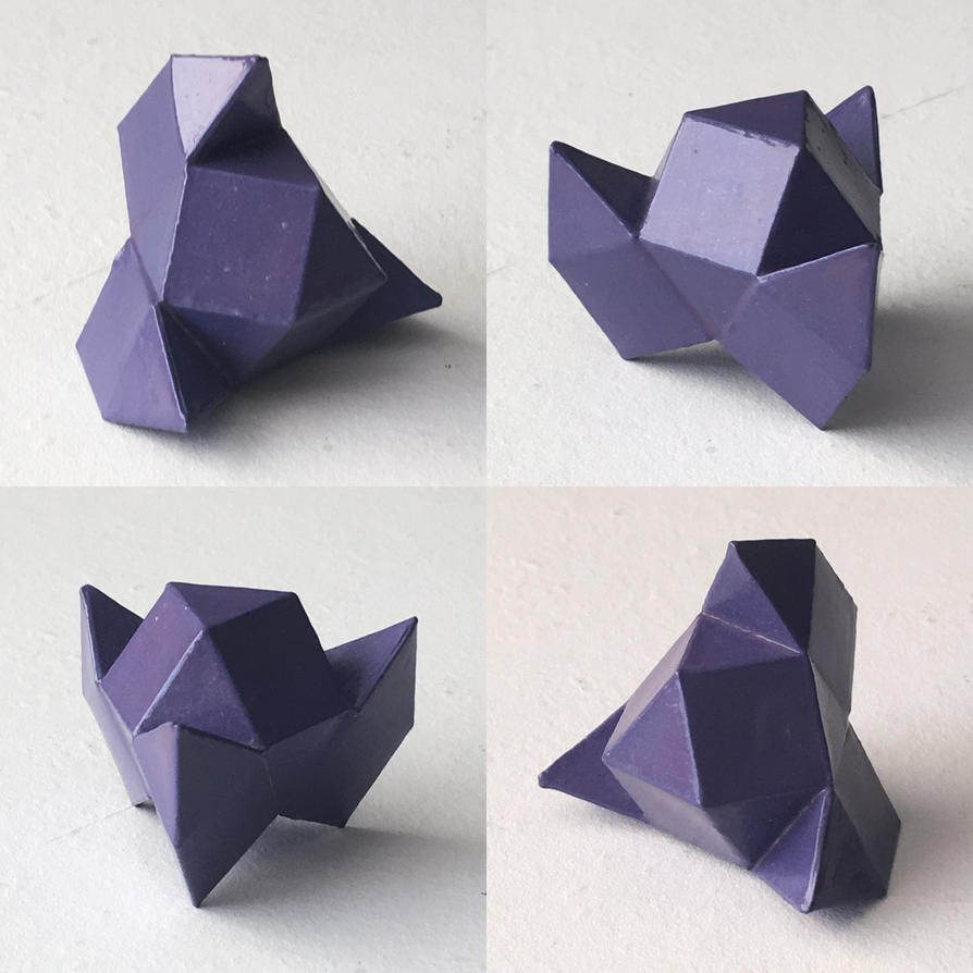 Cuboctahedron + 3 Elongated Triangular Pyramids by dragon-dan