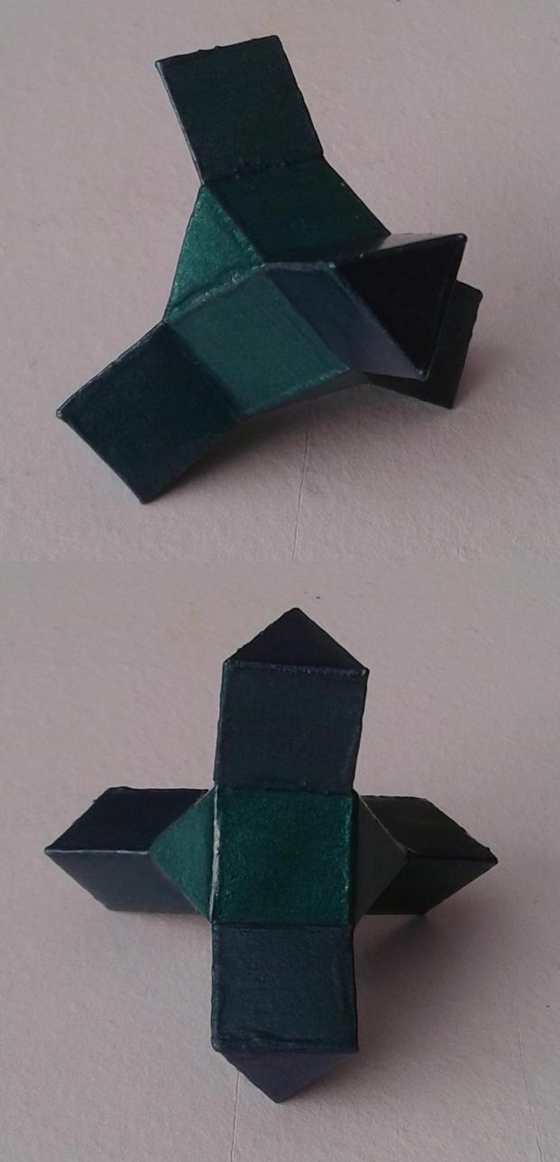 Cuboctahedron + 4 triangular prisms by dragon-dan