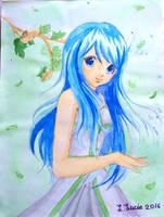 Flowing Blue by L-L-arts
