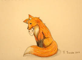 Shy Fox by L-L-arts