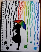 Colored Rain by L-L-arts