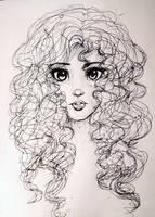 Inktober 19: Bad Hair Day by L-L-arts