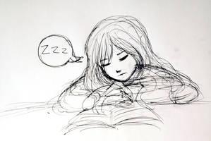 Inktober 24: Snooze by L-L-arts